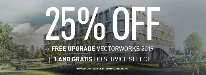 25% OFF NO VECTORWORKS + 1 ANO GRATIS DO SERVICE SELECT